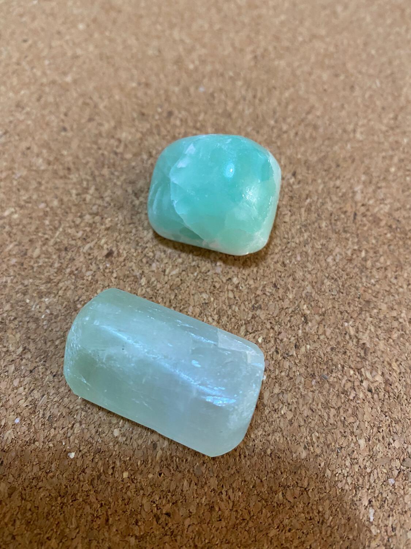 Pistachio Calcite small tumble