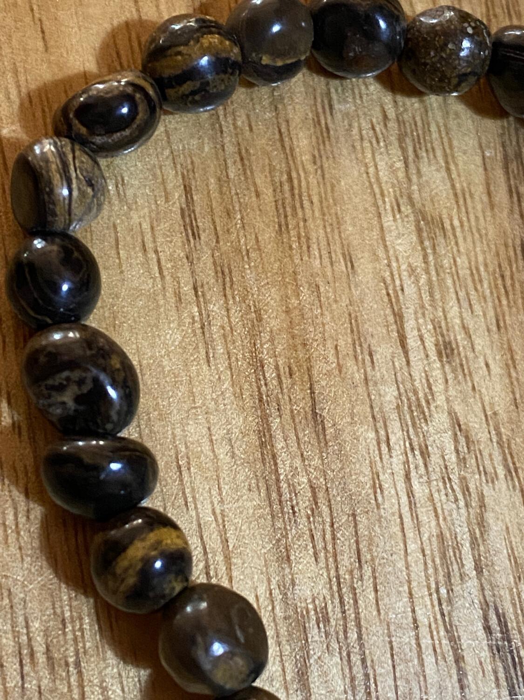 Stromatolite Bead Bracelet