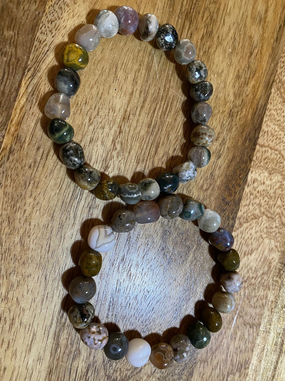 Ocean Jasper (Atlantis Stone) Bead Bracelet