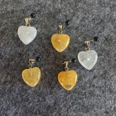 Azeztulite Heart Pendants (small)