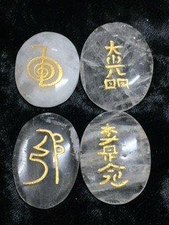 Clear Quartz Reiki 4 Stones