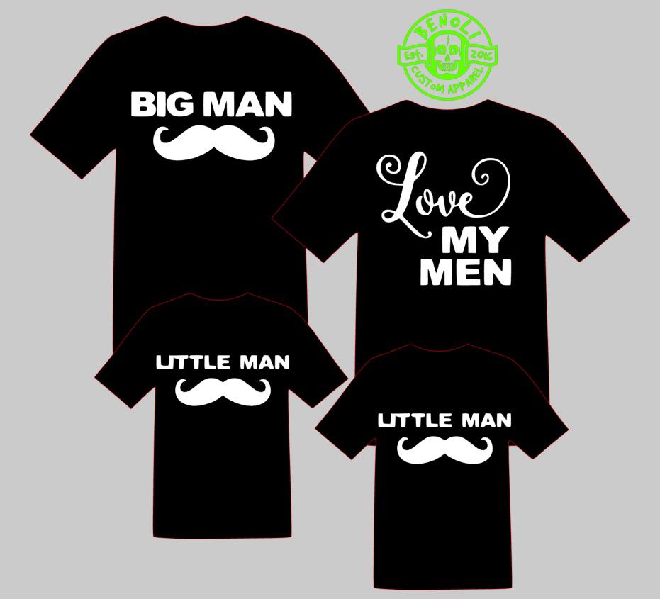 Moustache Family (3 shirt set)