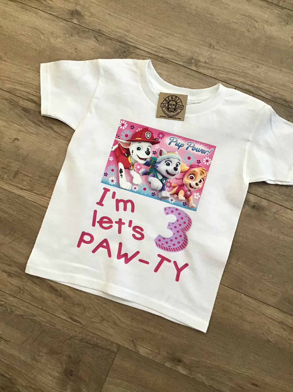 Paw Patrol girls birthday tee