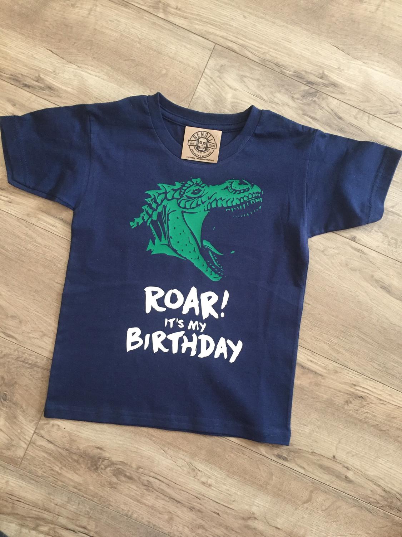 Roar It's My Birthday Tee