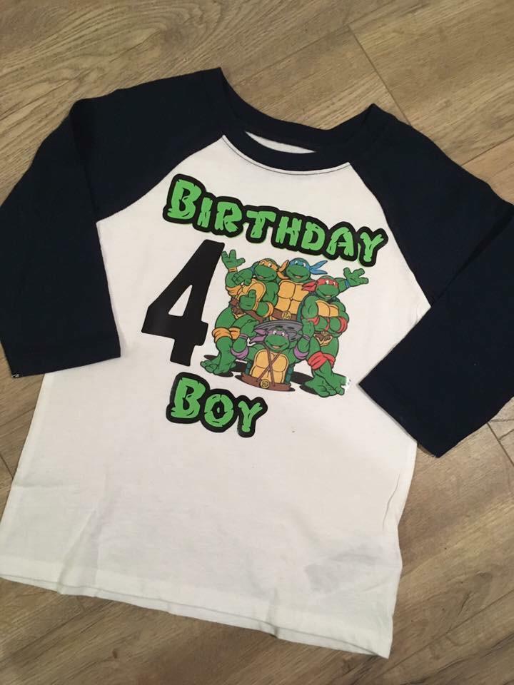 Ninja Turtles Birthday Tee