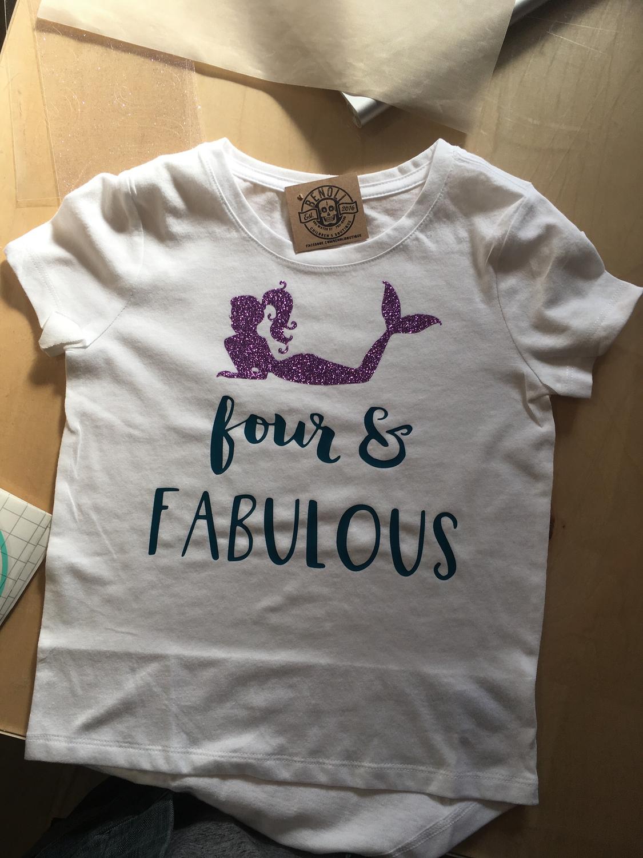 Four & Fabulous Birthday Tee