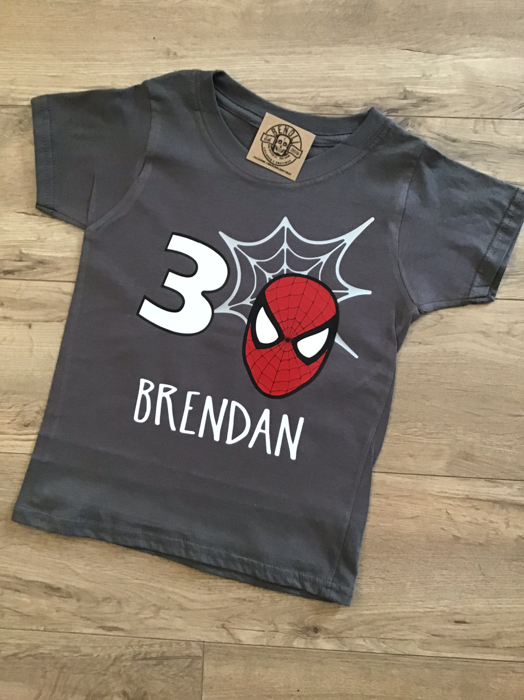Spiderman Birthday Tee