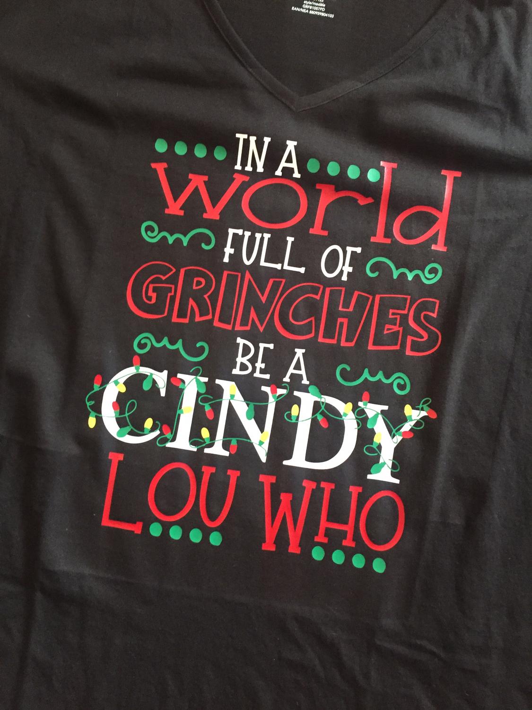 Grinch; Cindy Lou Who
