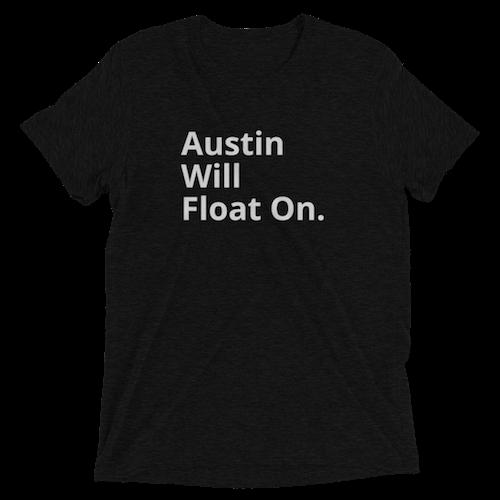 Austin Will Float On Black Tee