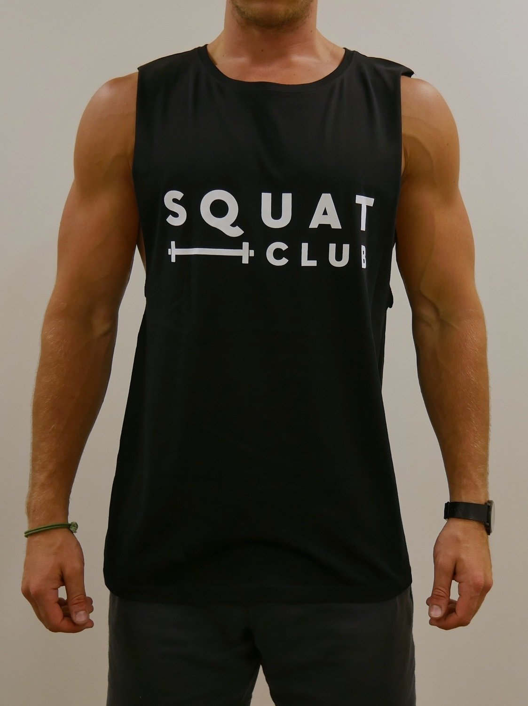 Signature Black Squat Club Sleeveless Tee