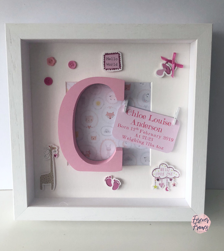 Hello World Baby Girl Frame