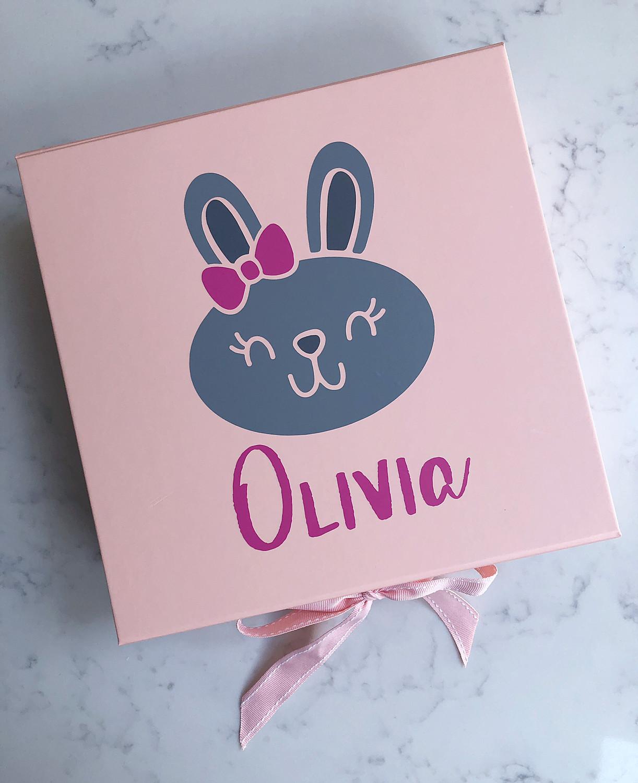 Girls Bunny Keepsake Box