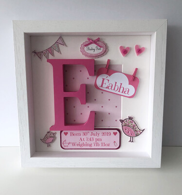 Two Little Birds Baby Girl Frame