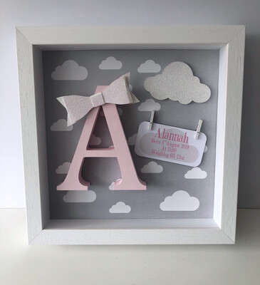 Grey Cloud Frame - Pink