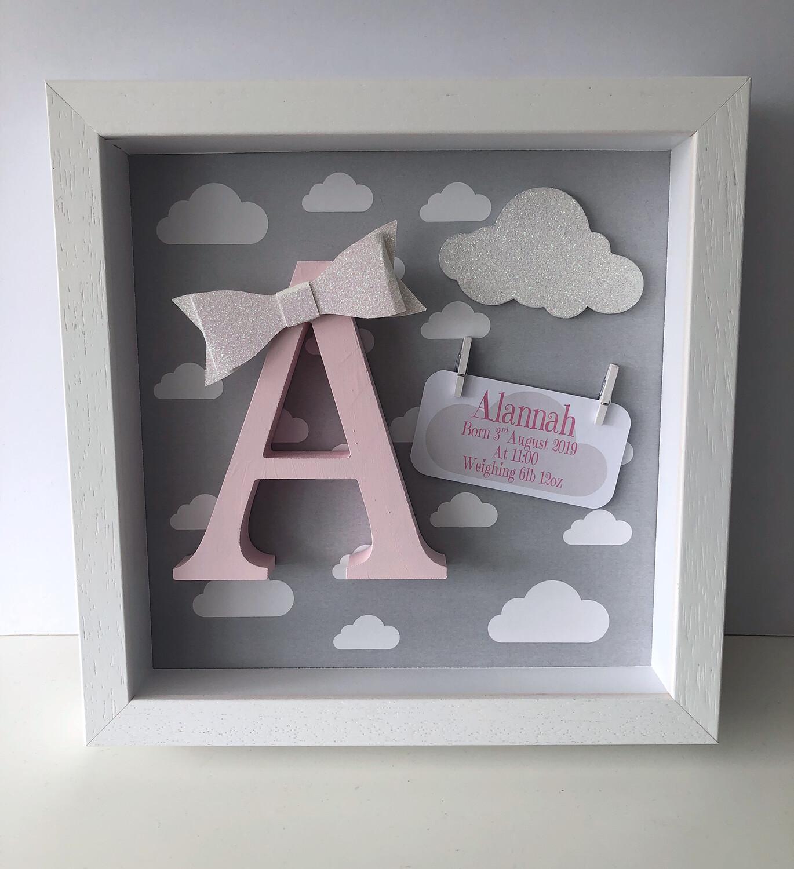 Grey Cloud Frame - Pink