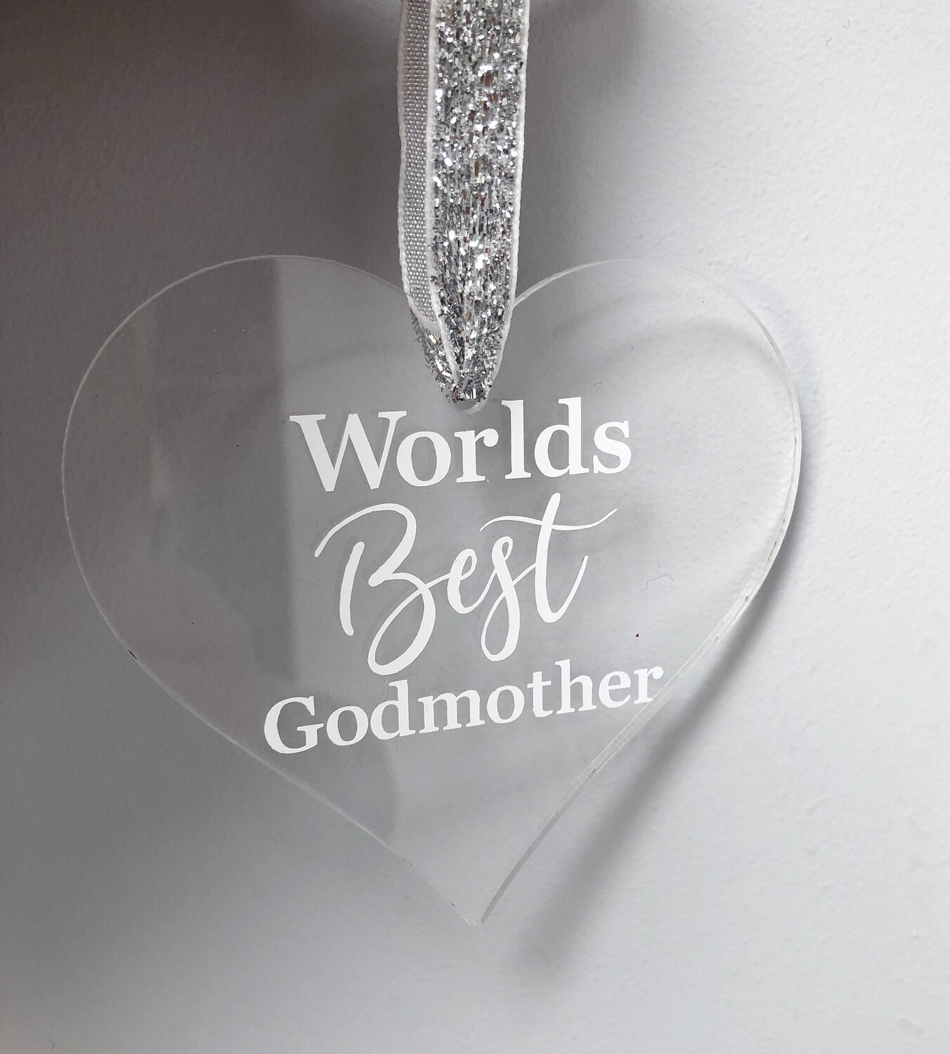 """Worlds Best Godmother"" Christmas Decoration"