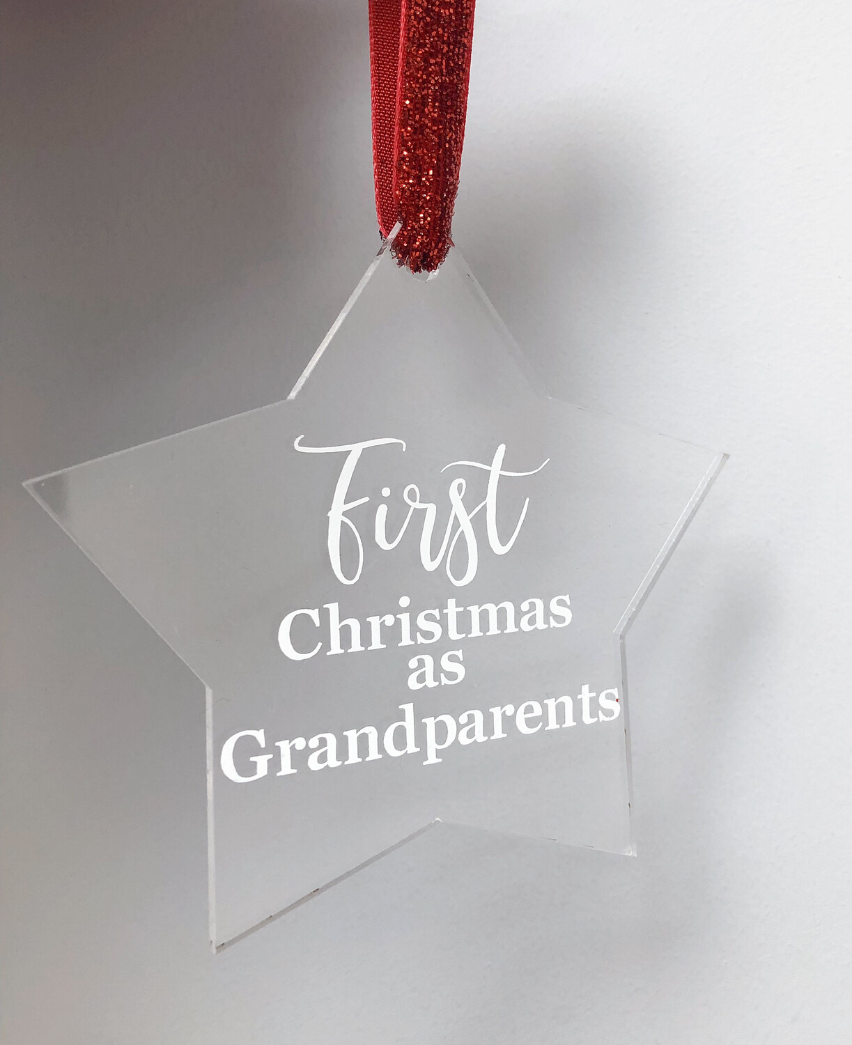"""""""First Christmas as Grandparents"""" Christmas Decoration"""