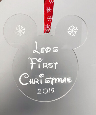 First Christmas Disney Style Decoration