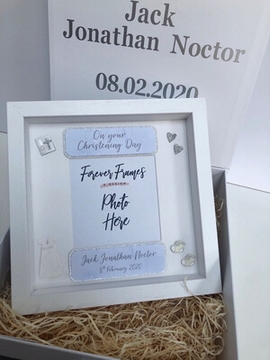 Personalised Christening Frame & Gift Box
