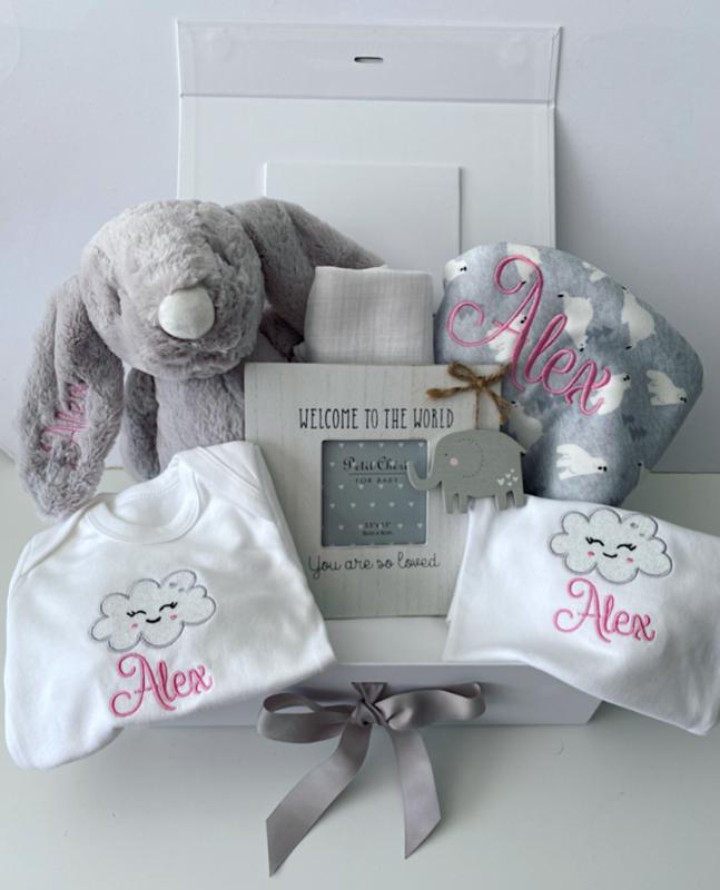 Luxury Personalised Baby Keepsake Gift Set