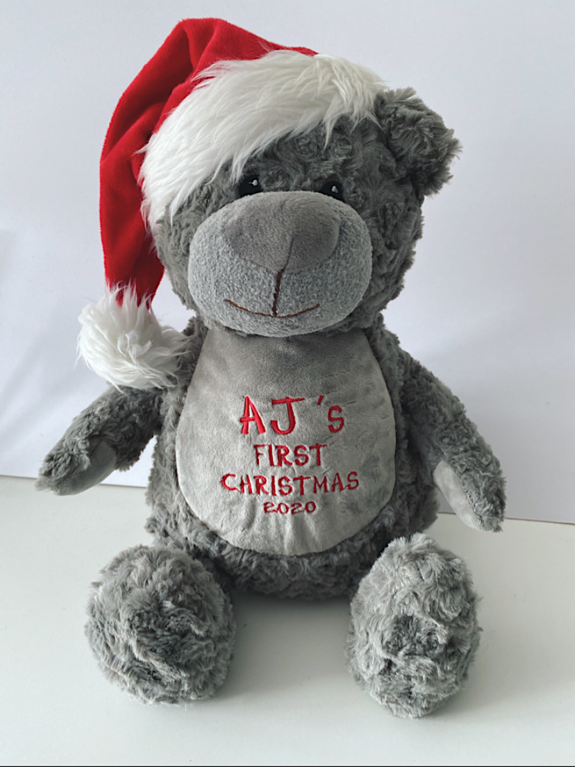 My First Christmas Personalised Teddy