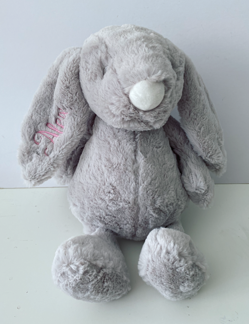Personalised Bunny Rabbit Plush Teddy & Tote Set