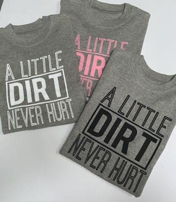 A Little Dirt Never Hurt Kids Long Sleeve  T-shirt