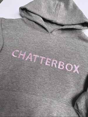 Chatterbox Grey Marl Kids Hoodie