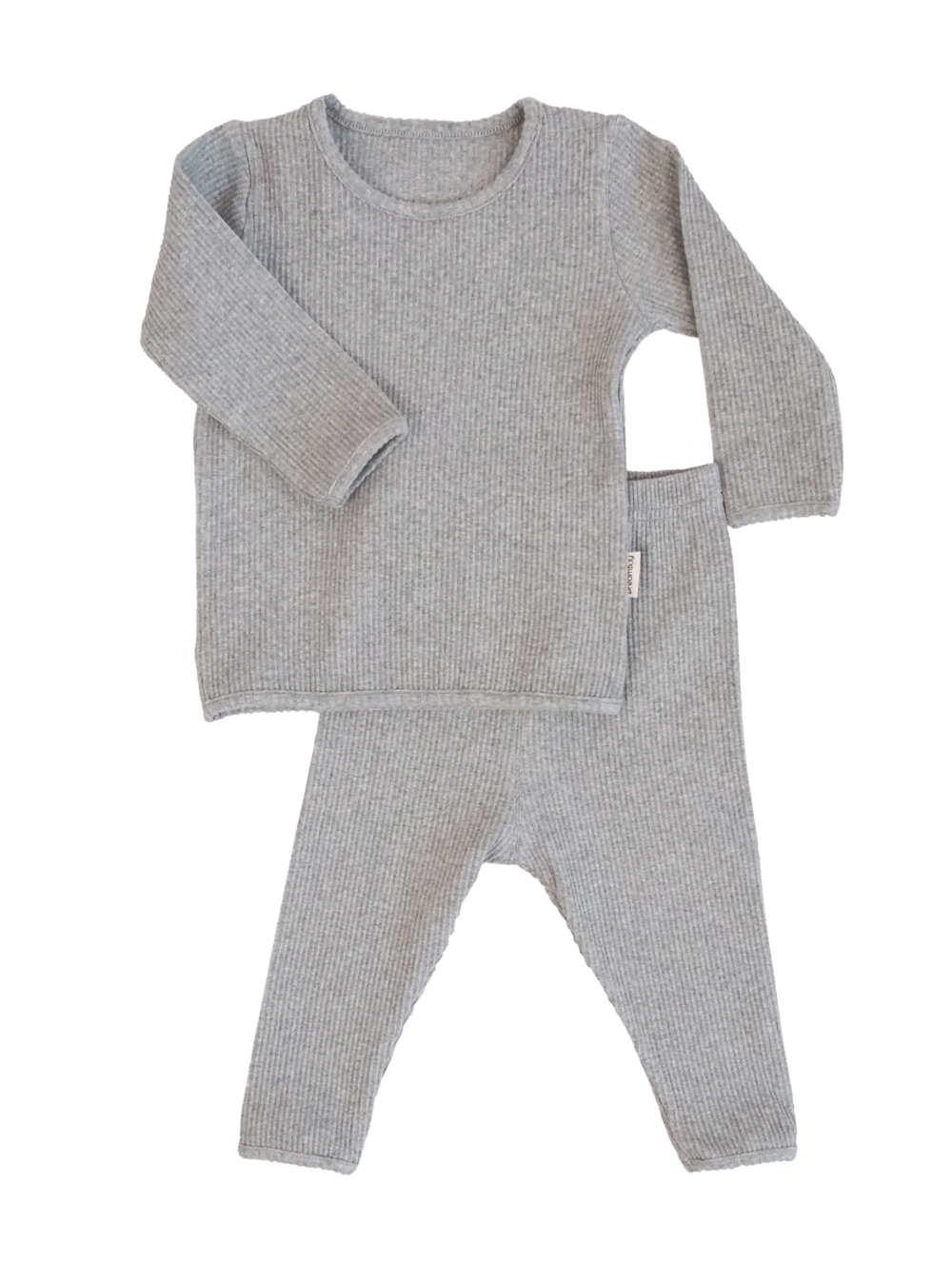Personalised Ribbed Lounge Set - Grey