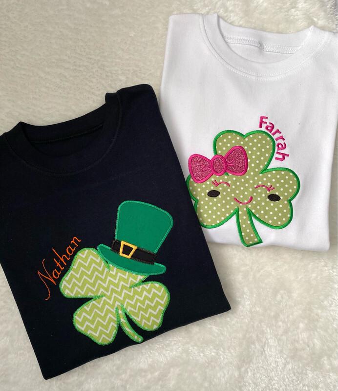 Personalised St. Patricks Day Long Sleeve T-shirt