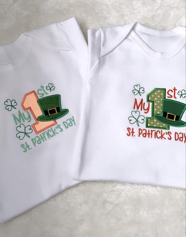 My 1st St. Patricks Day Romper