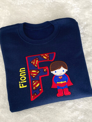 Personalised Superboy Kids Swearshirt