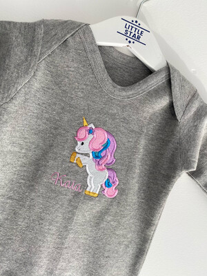 Personalised Unicorn Romper
