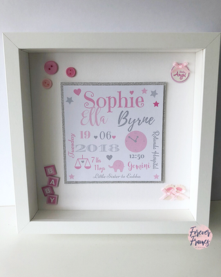 Baby Girl Detail Frame