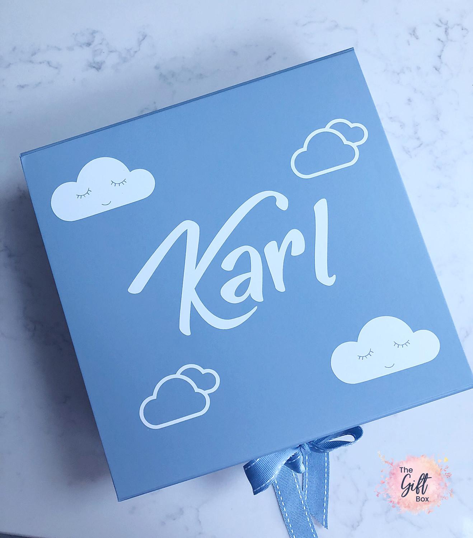 Boys Cloud Keepsake Box