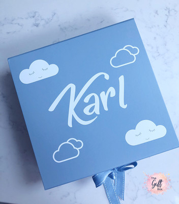 Boys Cloud Keepsake Box