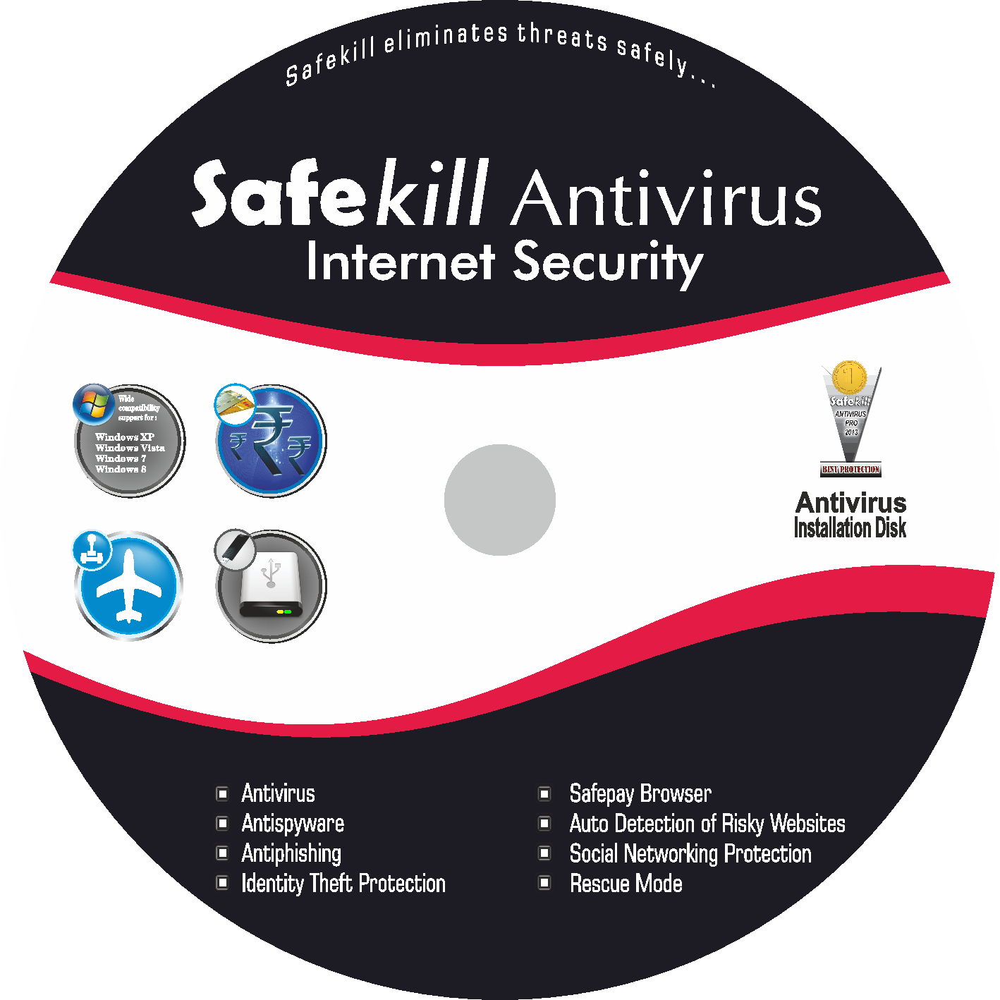 Safekill Antivirus (One Year / 3 Users)