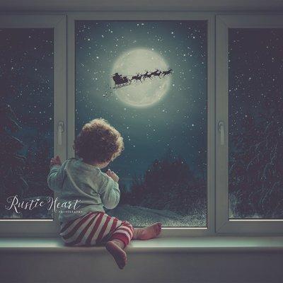 Christmas Window Backdrop Set