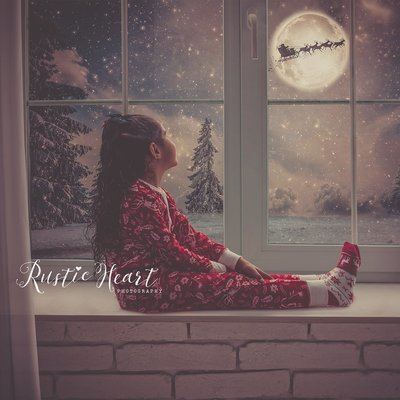NEW Animated - Christmas Window Backdrop Set
