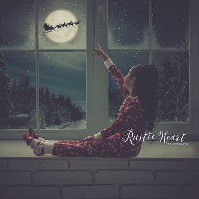 NEW Animated - Christmas Window Backdrop Set v2