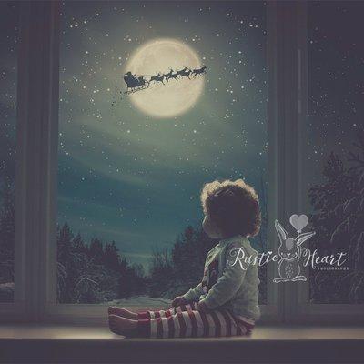 NEW Animated - 'The Original' Christmas Window Backdrop Set