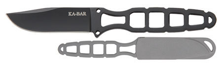"Ka-Bar 1118BP Skeleton Tactical 2.5"" 5Cr15 Stainless Clip Point"