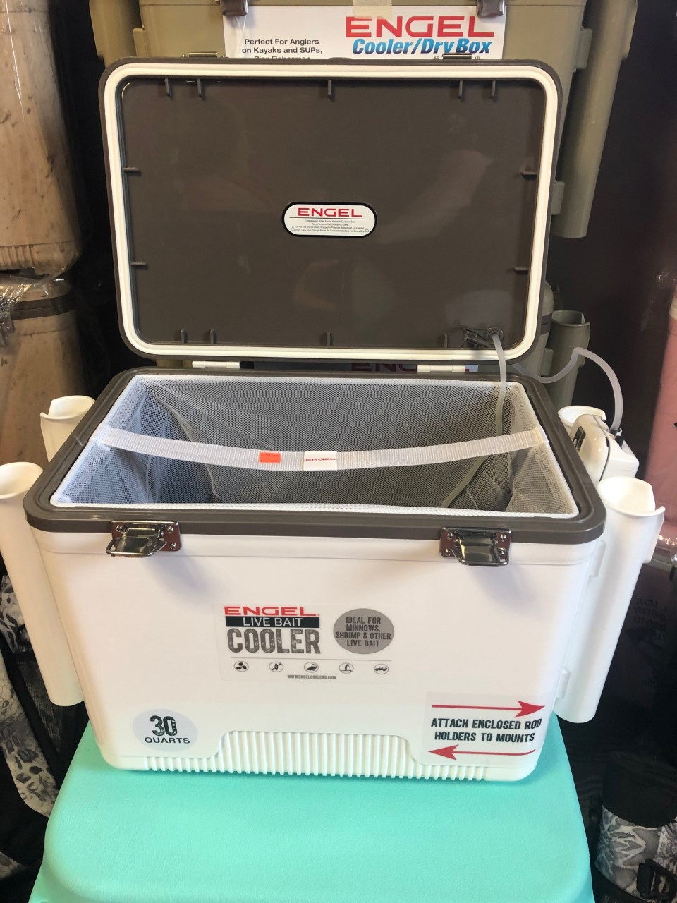 ENGEL COOLER/DRY BOX LIVE BAIT COOLERS