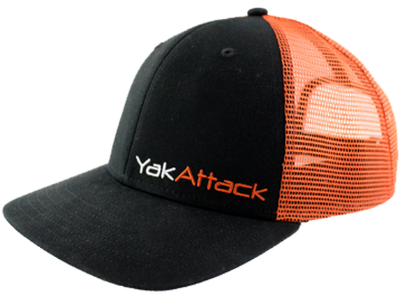 Yak Attack Black/Orange  Mesh Snap Back Trucker Hat