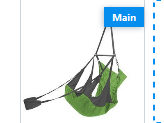 Eno Airpod Hanging Chair Lime/ Charcoal