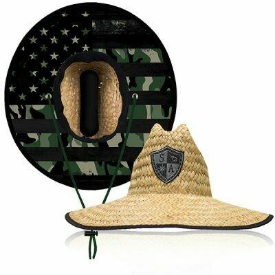 Straw Hat Blackout American Flag