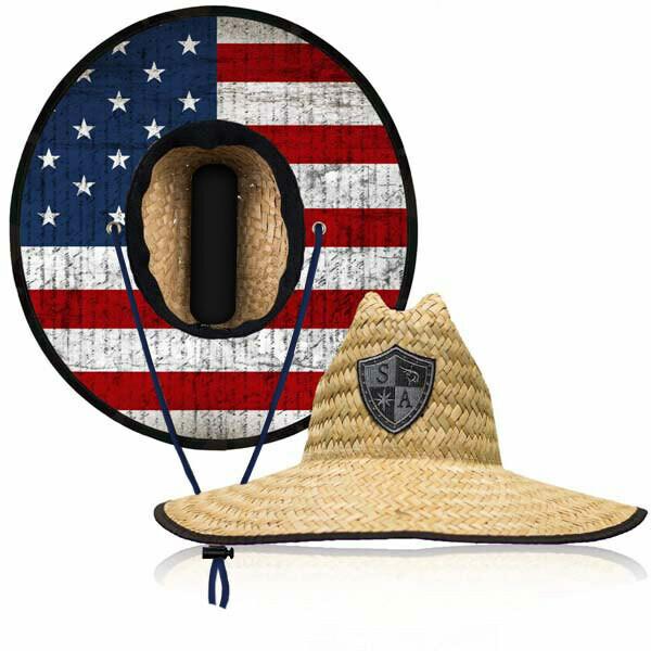 Straw Hat American Flag