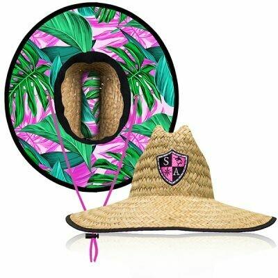 Straw Hat Hawaiian Floral