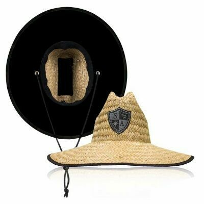 Straw Hat with Blackout Shield