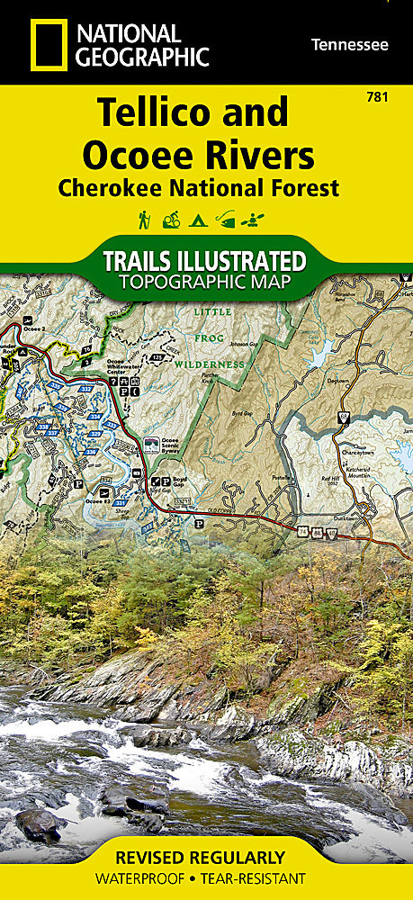 781 Tellico And Ocoee Rivers Cherokee National Forest Trail Map